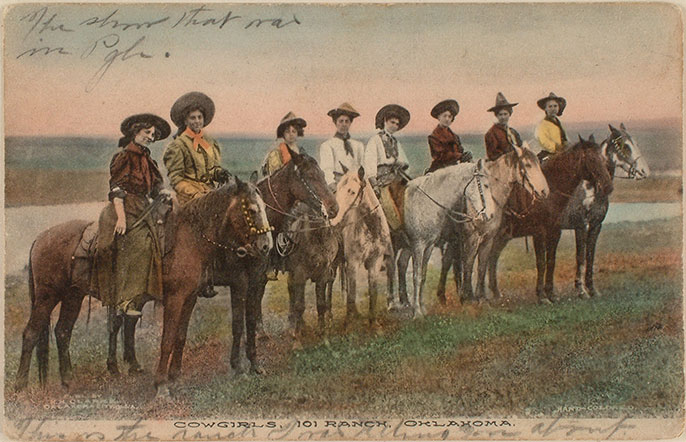 Vintage postcard, 101 Ranch