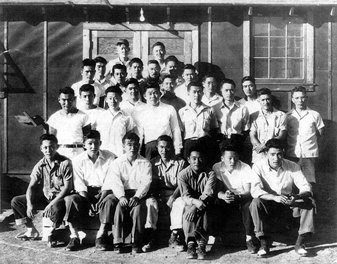 Japanese American draft resisters at Tule Lake camp