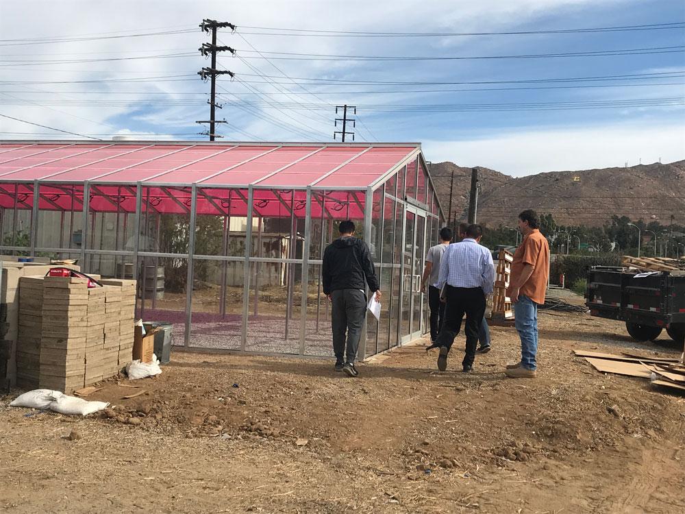 U C Riverside's new solar greenhouse