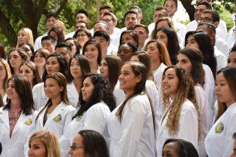 Image of group of health professional students at UC Riverside. Credit: Carlos Puma, UC Riverside.