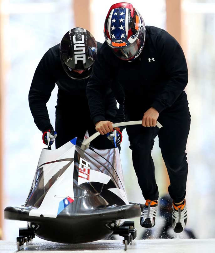 Bobsledders Cory Butner and Justin Olsen