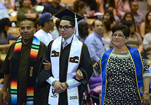 UC Riverside graduate and parents