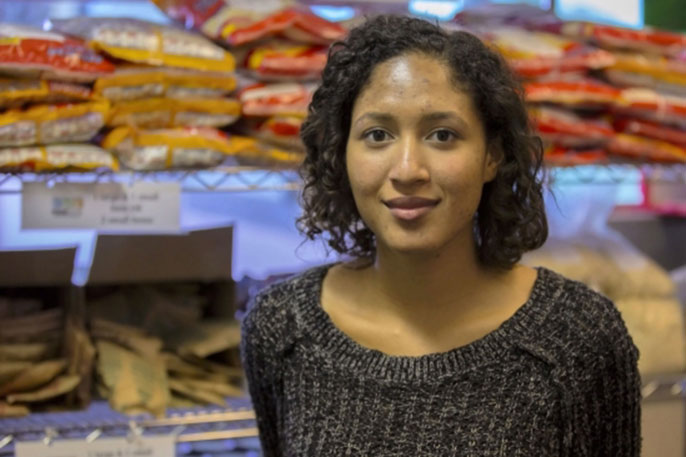 Graduating senior Rachel Rouse, also a UC Global Food Initiative Fellow at UC Santa Barbara, has been studying food insecurity and access among the student population.