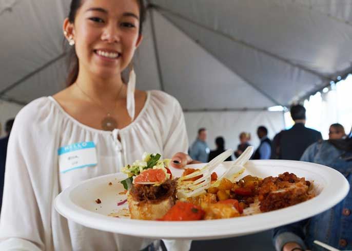 Food served at Pacific Chef Net 2015