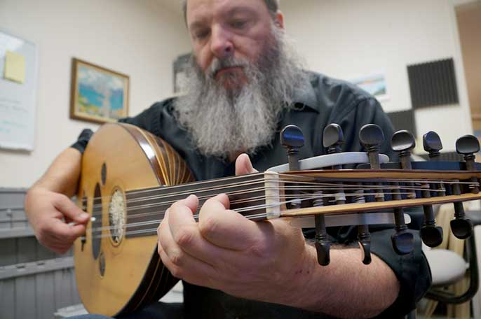 Eric Ederer plays the oud