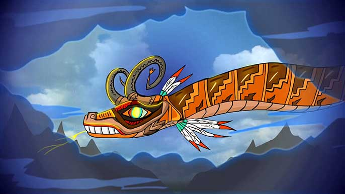 "Serpent still from ""Frontera!"" animated film"
