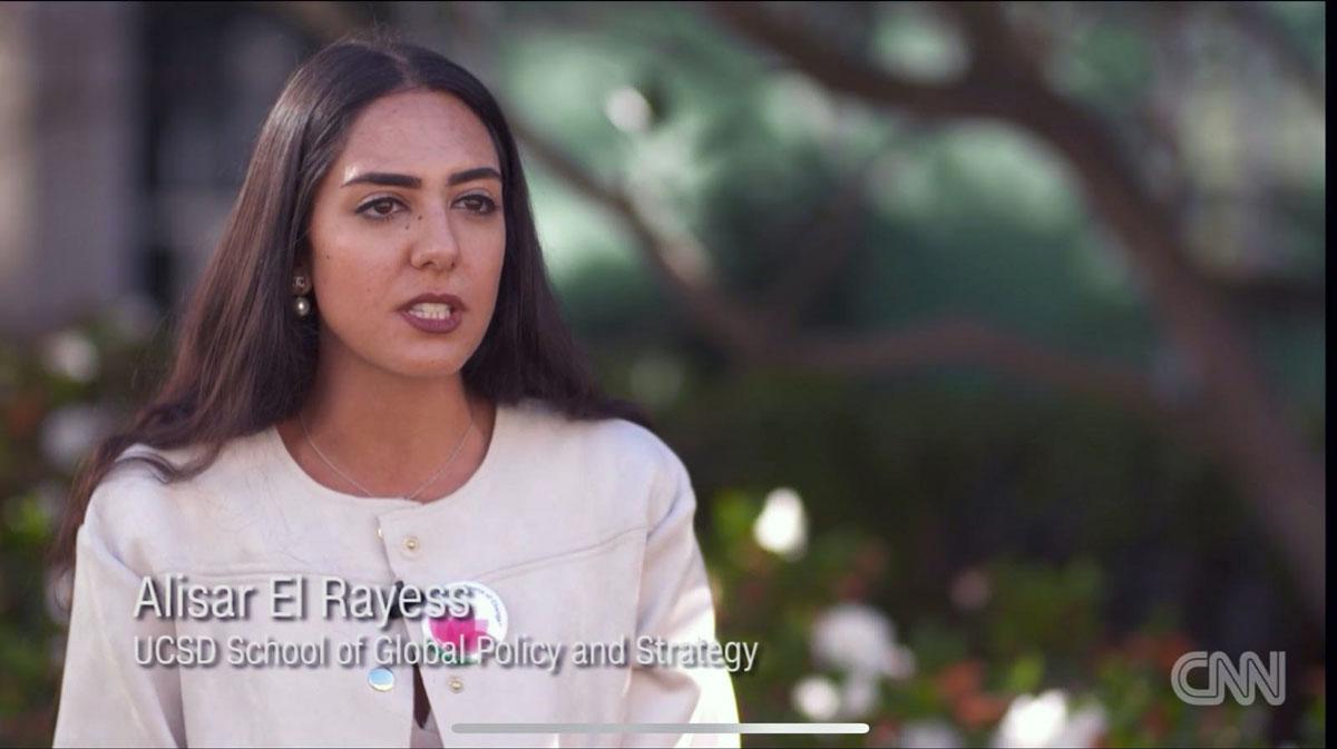 Alisar El Rayess on CNN