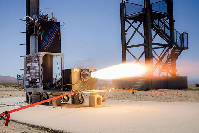 3-D-printed rocket test