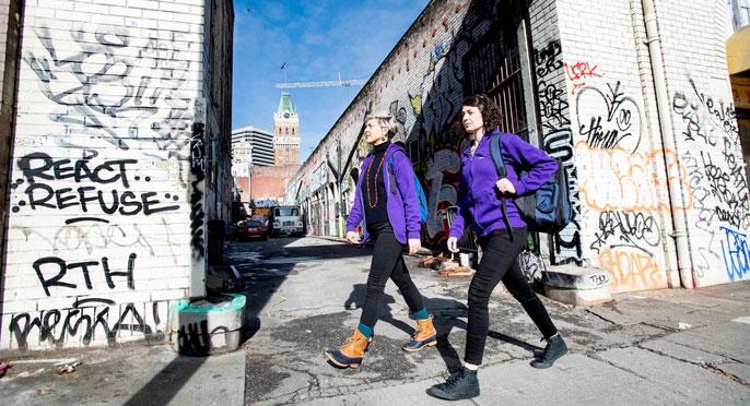 Two psychiatrists walk in Oakland