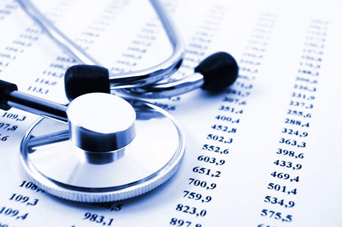 data sheet and stethoscope