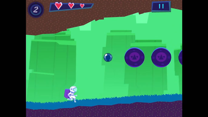 Little astronaut running video game