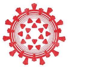 Illustration of a coronavirus symbol