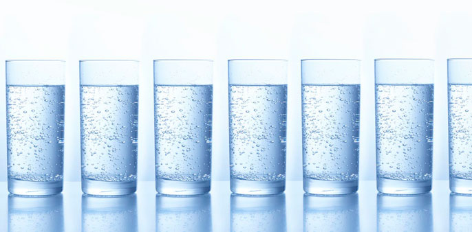 Glasses of water next to each other