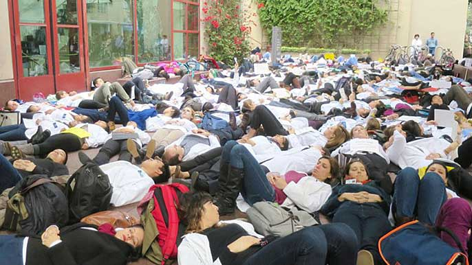 UCSF 'die-in'
