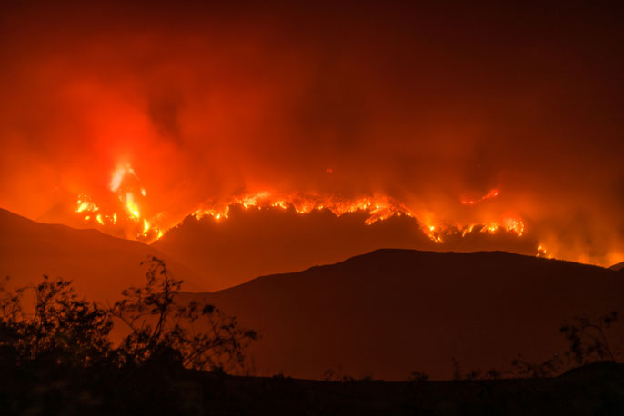 Whittier fire UCLA